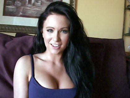 Amateur girl showing off beautiful tits and spreading pussy