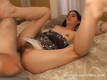 Hairy mom plant magic with her son's huge dick