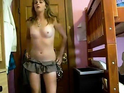 Tall girl, short skirt