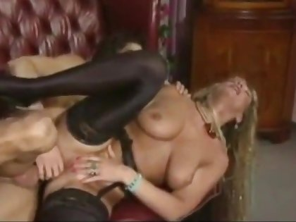 Long haired bazaar German MILF gets fucked by a young guy