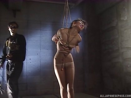 Dirty torture session with pain loving Japanese unpaid girl