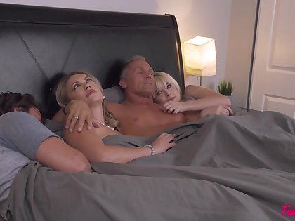 No person really knows how two couples intact hither fucking likewise bed and swapping partners