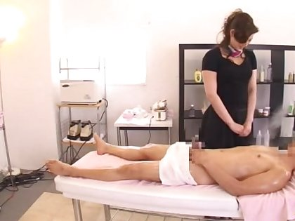 Closeup video of shafting on the massage directors with a cute babe
