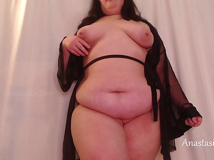 Fat webcam model unashamedly shows her body, Anastasia Gree