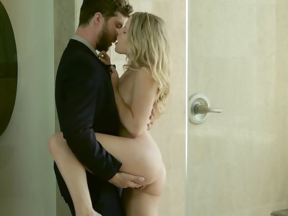 Seductive blonde with small tits wants her dose of cock right exhausted enough