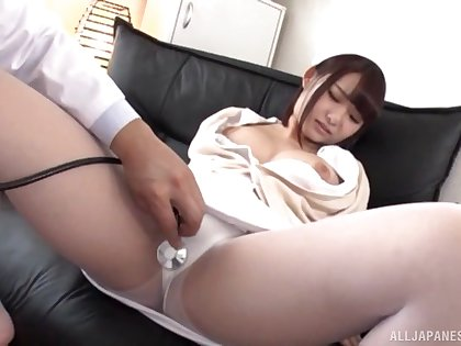 Wild shafting with a kinky Japanese if it should happen rubble with a creampie