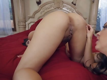Two lovely lesbians are seal the doom each other up POV