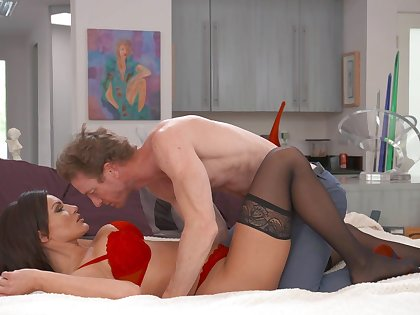 Handsome stud fucks his best friend's vicious wife Becky Bandini